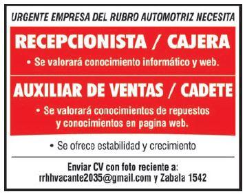 Excelentes oportunidades laborales en Empresa Auto ...