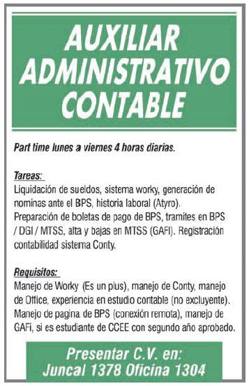 Oportunidad laboral para Auxiliar Administrativo C ...