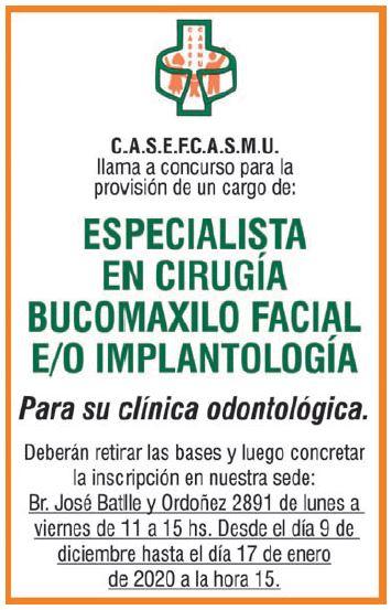 Excelente oportunidad laboral para CASEFCASMU